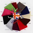 1 To 50pc Luxury Soft Velvet Pouches Bag Jewellery Drawstring Wedding Party Gift