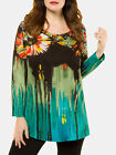 Ulla Popken Tunic Top WATERCOLOUR FLORAL Print UK Plus Size 16/18 to 32/34