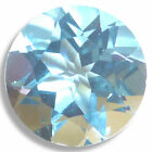 Natural Aquamarine Blue Round Faceted Loose Gemstones Fine Cut AA+ 2mm-8mm