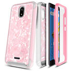For BLU Wiko Ride / AT&T Radiant Core Case Slim Built-In Screen Protector Cover