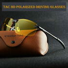 Tac HD Polarized Day Night Vision glasses Men Driving Pilot Aviator sunglasses