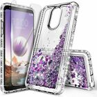 For LG Stylo 4 / Stylo 4 Plus Case Liquid Glitter Bling Cover + Screen Protector