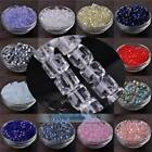 3mm 4mm 6mm 8mm 10mm 14mm Crystal Glass Cube Faceted Loose Crafts Beads Lot