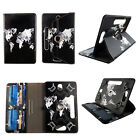 """CASE FOR 8 INCH 8"""" UNIVERSAL ROTATING PU LEATHER TABLET COVER CARD CASH SLOTS"""