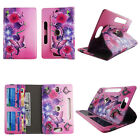 "CASE FOR 8 INCH 8"" UNIVERSAL ROTATING PU LEATHER TABLET COVER CARD CASH SLOTS"