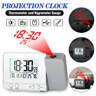 Digital Projection Dual Alarm Clock Thermometer Temperature Snooze LED Backlight