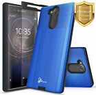 For Sony Xperia XA2 Case Dual Layer Shockproof Phone Cover + Tempered Glass