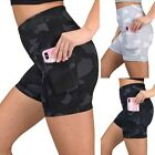 Womens Workout Shorts Scrunch Booty Gym Yoga Pants Camouflage Pockets Leggings