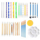 DIY Multifunctional Art Craft Clay Pottery Sculpting Modeling Tools Kit 33Pcs image