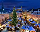 Christmas German Market Germany Painting Landscape Paint By Numbers Kit DIY