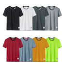 Summer Men's Fashion T-shirt Cropped Short Sleeve Tee Mesh Tops Breathable 8 image
