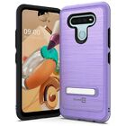 CoverON For LG K51 Kickstand Case Metal Protective Hard Shockproof Phone Cover