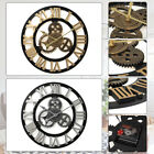 40cm Diameter Wooden Mute Wall Clock Retro Gear Decoration Creative Wall Clock