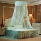 Solid Mosquito Net Bed Queen Size Home Dome Foldable Bed Canopy Elegant Princess image