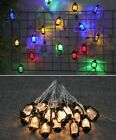 Outdoor String Light Vintage Retro Style Water Oil Lamp LED Garden Party Decor