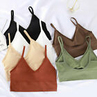 Sport Bra Backless Tank Top High Stretch Gym Cropped Top Breathable Padded Tops
