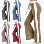 Lady Cargo Pants Yoga Gym Loose Striped Trousers Sport Running Straight Leggings