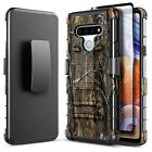 For LG Stylo 6 Case Belt Clip Kickstand Phone Cover + Tempered Glass Protector