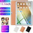 "10.1"" 4G-LTE/WiFi Tablet HD 8 128G Android 9.0 Dual Camera 10 Core Phablet pw"