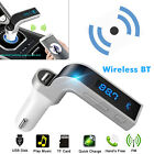 BT Wireless Car AUX Stereo Audio Receiver FM Adapter USB Charger A2DP