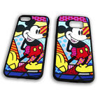 Mickey Mouse Stained Glass Art Cool Dope Rubber Tpu Phone Case Cover