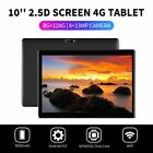 10.1'' WIFI/4G Tablet Android 9.0 Pad 8 128G Dual SIM Camera GPS Phablet pw