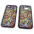 Stained Glass Disney Characters Princess Mickey Minnie Tpu Phone Case Cover