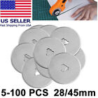 Купить 28mm & 45mm Rotary Cutter Spare Blades Leather Quilters Sewing Patchwork Fabric