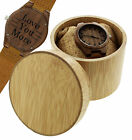 Romantic Gifts Love You More Engraved Watch and Case Set Wood Watch Gift Set image