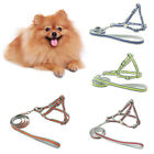 AM_ FT- Pet Dog Harness Vest Leash Nylon Traction Rope Adjustable Reflective Eye