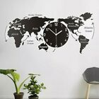 Creative Acrylic World Map Hanging Wall Clock Wall Decoration for Home Office