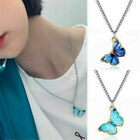Women Fashion Enamel Butterfly Pendant Clavicle Chain Quality Necklace Q8