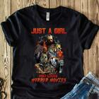 Official Halloween Just a Girl Who Loves Horror Movies Black Shirt Shirt