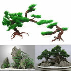 Fish Tank Aquarium Rock Bonsai Ornament Plastic Artificial Pine Tree Plant Decor