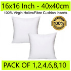 Cushion Pads 16x16 Inch 40 x 40 cm Inners Inserts Fillers Extra Deep Filled Sofa
