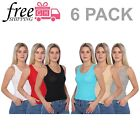 Women's Intrigue 6 Pack Cotton Slim Fit A-Shirt
