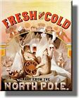 Fresh and Cold Lager Beer Vintage Picture on Stretched Canvas, Wall Art Décor, R