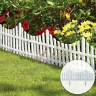 White Plastic Wooden Effect Lawn Border Edge Garden Edging Picket Fencing Set Uk