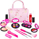 Girls Pretend Play Makeup Sets Fake Make Up Kits With Cosmetic Bag For Little Gi photo
