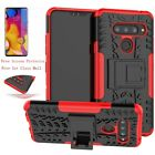 For Lg V40 Thinq Shockproof Stand Rugged Hybrid Hard Case Cover+screen Protector