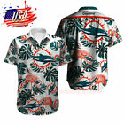 Miami Dolphins Football Print Shirts Summer Beach Floral T Shirt Tops Fans Gifts $27.54 USD on eBay