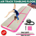 10/16FT Airtrack Floor Home Inflatable Gymnastics Tumbling Mat Gym Training+Pump image