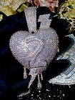 Mens Iced-Out Famous Heart Number 2 Big Charm Pendant For Upto 20MM Cuban Chain