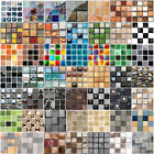 3d Tile Wall Stickers Transfer Mosaic Kitchen Bathroom Home Self-adhesive Decor