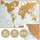 Scratch The World Travel Map - Scratch Off World Map Poster - X-Large 23 x 33 -
