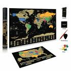 Scratch Map World Poster with USA Map | 24x17 | Custom Designed Scratch Map with