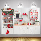 7x5/5x3ft Christmas Wooden Kitchen Studio Backdrop Photography Background  New
