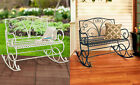 Antique Metal Rocking Benches Seat Outdoor Garden Patio Porch Deck Furniture New