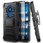 For Nokia C5 Endi Case, Holster Belt Clip Phone Cover + Tempered Glass Protector