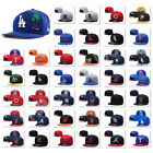 Embroidered MLB Teams Logo Baseball Cap Adjustable Snapback Flat Brim Hat Unisex on Ebay